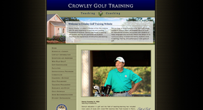 Crowley Golf Training Website