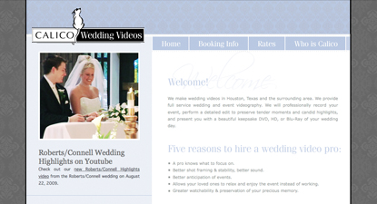 Calico Wedding Videos Website